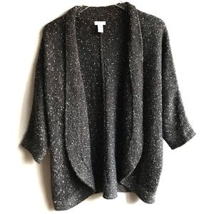 Chicos Gray Silver Chunky Knit Cocoon Sweater 3 XL